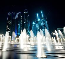 Abu Dhabi by Night by Brenton Ford