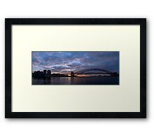 Point to Point - Sydney Harbour & Bridge - The HDR Experience Framed Print