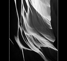 SANDSTONE WATERFALL, UPPER ANTELOPE CANYON, NAVAJO NATION, AZ. by PhotoIMAGINED
