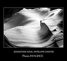 SANDSTONE WAVE, UPPER ANTELOPE CANYON, NAVAJO NATION, AZ by PhotoIMAGINED