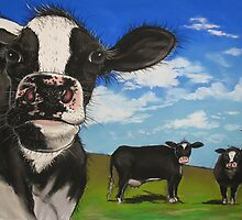 Cows in the Meadow by Sally Ford