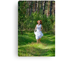 Active relaxation in the wood Canvas Print