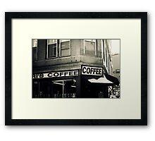 Boston North End Coffee Shop Framed Print