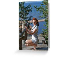 Women in dune Greeting Card