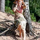 Woman in dune by fotorobs