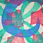 Printmaking Blue & Pink by katyork17