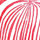 Red Stripped Lady- Printmaking by katyork17