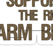 I Support the Right to Arm Bears, Polar Bears Sticker