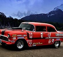 "1955 Chevrolet Pro Street Dragster - ""Chigger"" by TeeMack"