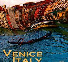 Wacky Venice, Italy Print by Ginny Luttrell