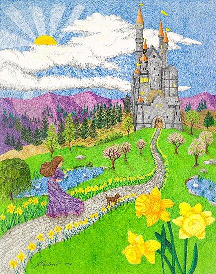 Daffodil Lane by Judy Newcomb