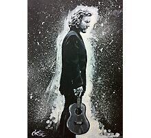 Eddie Vedder and His Ukulele Photographic Print
