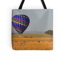 Hot Air Balloon Over the African Plains Tote Bag