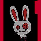 Bunny (Evil Version) iPhone Case by Chloe van Leeuwen