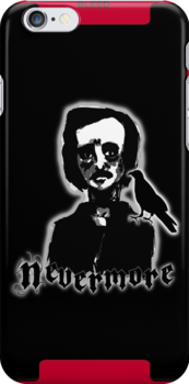 Edgar Allan Poe - Nevermore iPhone Case by Chloe van Leeuwen