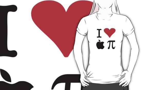 I Love Apple Pie - Alternative for light t-shirts by Brother Adam