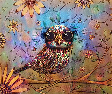 little love bird by Karin  Taylor