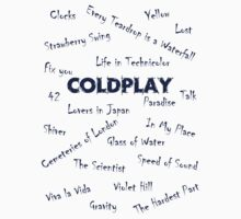 Coldplay Songs Shirt by kostolany244