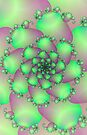 Green & Pink Spiral by Objowl