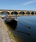 Boat Barge By Bridge by ragman