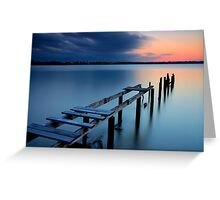 Deserted Sunset Greeting Card