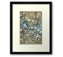 Cyan & Gold Framed Print