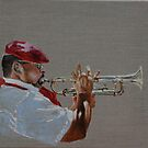 French trumpet player by David McEwen