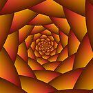 Orange Ball Spiral by Objowl