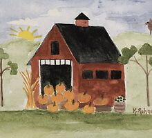 Pumpkin Barn by katherine rohnert
