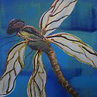 single dragonfly by Dawn  Hawkins