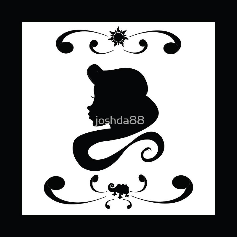 Rapunzel Silhouette by joshda88