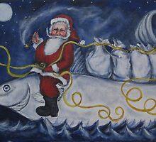 Nautical Santa by m catherine doherty