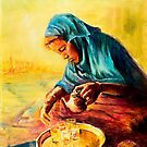African Chai Tea Lady. by Sher Nasser