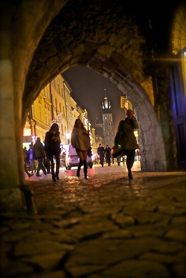 St. Florian's Gate . Brama Floriańska) in Kraków, Poland . of the best-known Polish Gothic towers, and a focal point of Kraków's Old Town. by Brown Sugar. by AndGoszcz