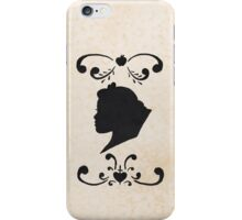Snow White Ink Silhouette Head iPhone Case/Skin