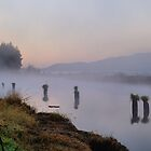 Morning Fog On The Tillamook River by Don Siebel
