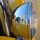 Clock Tower Hot Rod Reflection by MissyD