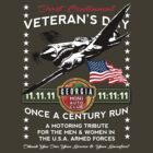 GA MINIAC 11.11.11 11:11:11 Veteran's Day Run Tee by JohnGo