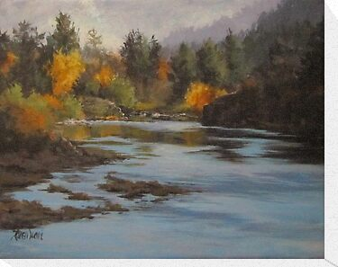 Fall at Colliding Rivers by Karen Ilari