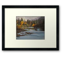 Fall at Colliding Rivers Framed Print