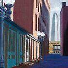 Alley View in pastel by John Marcum