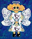 Blue Angel - She's mellow and sweet by Lisa Frances Judd~QuirkyHappyArt