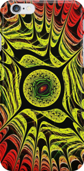 Yellow Dragon Eye iPhone Case by Anastasiya Malakhova