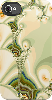 Growing Pearls Fractal Design for iPhone Case by Anastasiya Malakhova