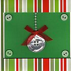 Button Christmas Card Tree Ornament by Rebecca Rees