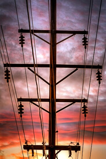 Powered Sunset by Bob Larson