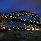Sydney Harbour at Sunset by HERGTO