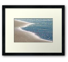 Bubbles Before The Sand Framed Print
