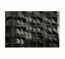 Fractured Apartments Art Print
