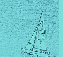 sailing boat in the blue iphone case by faithie